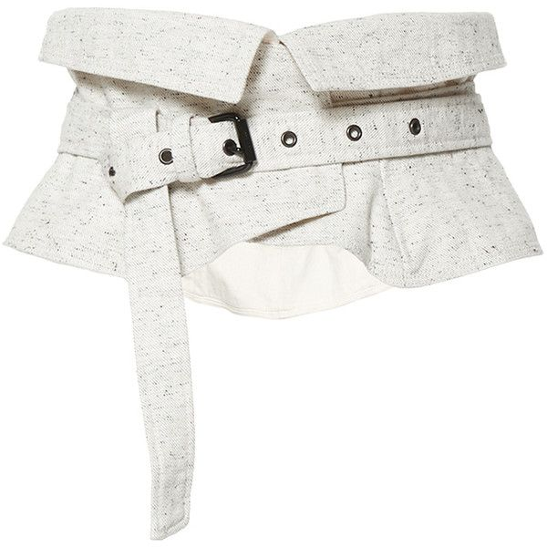 Isabel Marant Erika Belt ($305) ❤ liked on Polyvore featuring accessories, belts, white, isabel marant belt, cotton belt, isabel marant and white belt