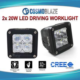 Cosmoblaze 2x 20W CREE LED DRIVING WORKLIGHT Car 4WD Spot 24V/12V Light 2pcs