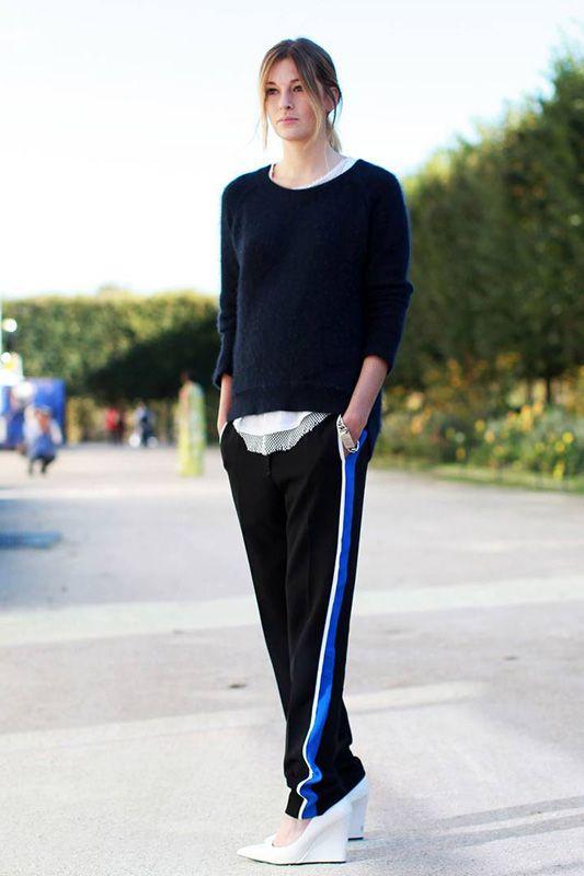 School Tracksuit Pants 街拍新潮流:快把學生時期運動褲挖出來! | Popbee - 線上時尚生活雜誌