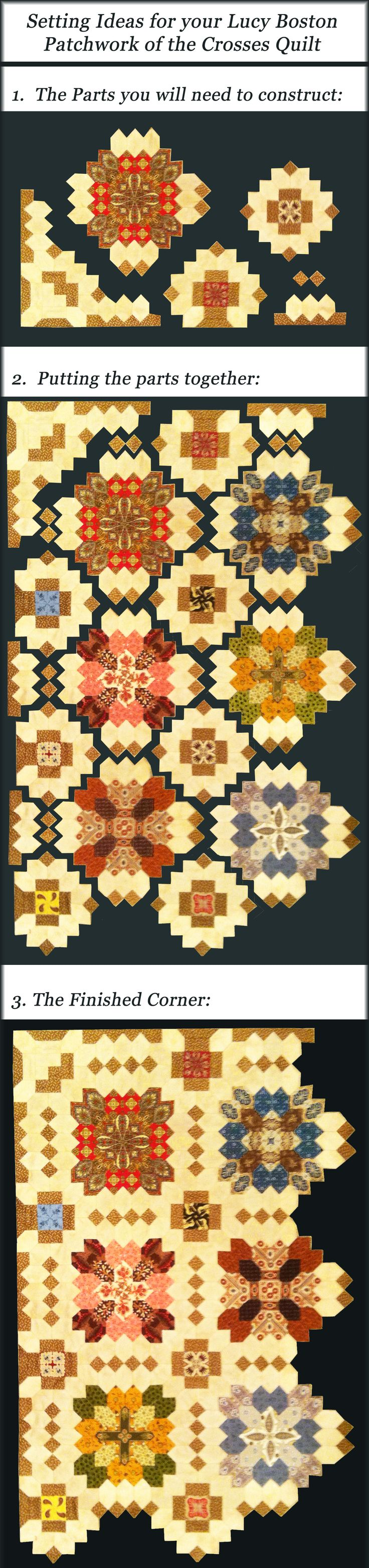 Finished a Corner - setting ideas from Pieceful Gathering Quilt Shop