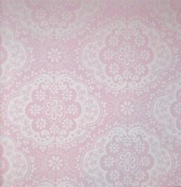 Room Seven behang Dentelle roze
