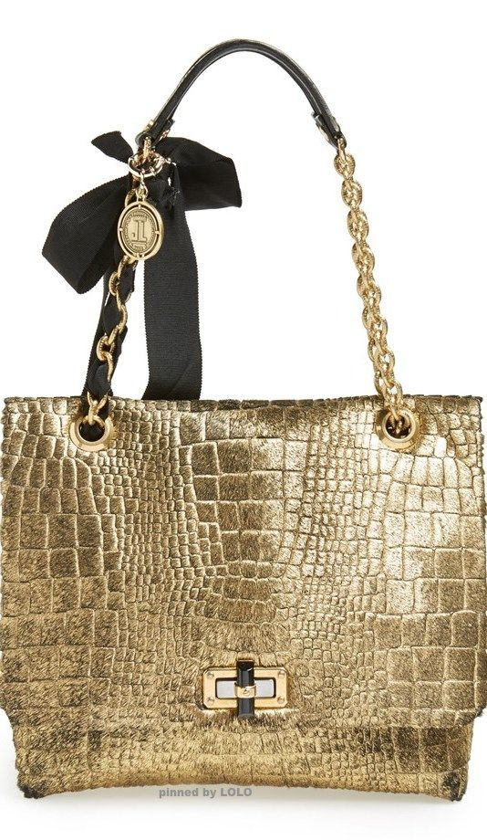 Lanvin ~ 'Medium Happy' Genuine Calf Hair Shoulder Bag