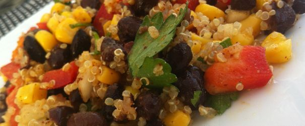 Southwestern Black Bean, Quinoa, and Mango Salad