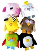 Hmmm might be cute to give one of these with a baby quilt or instead of a baby quilt . . . Love the penguin.