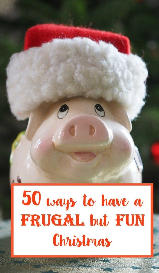 50 ways to have a frugal but fun Christmas!  These tips will help you save money at christmas. #Christmas #moneysaving