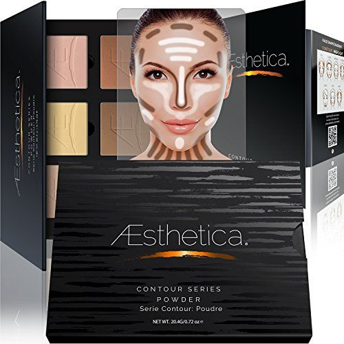 The six pressed powders in the Aesthetica Cosmetics Contouring Kit are used to enhance your natural beauty. Darker contour shades define features while lighter highlighting shades enhance the eyes, cheekbones, nose, and jawline. An included step-by-step guide details how to contour and highlight like a professional makeup artist. Video tutorials are available on our website.