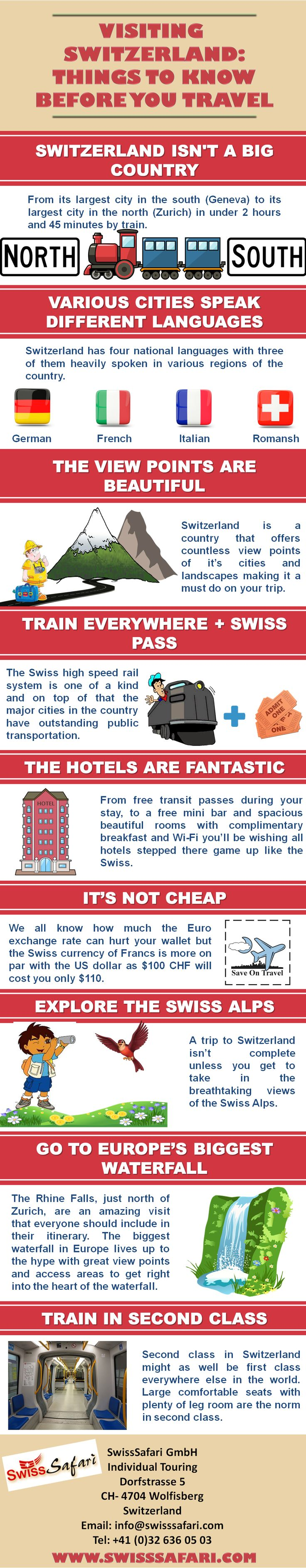 VISITING SWITZERLAND: 9 THINGS TO KNOW BEFORE YOU TRAVEL #Infographic #Infografía