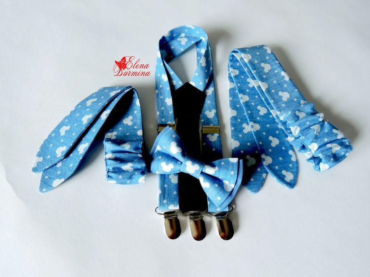Купить Коиплект в стиле фемили лук для детей, джинс - голубой, рисунок, Микки Маус, микки