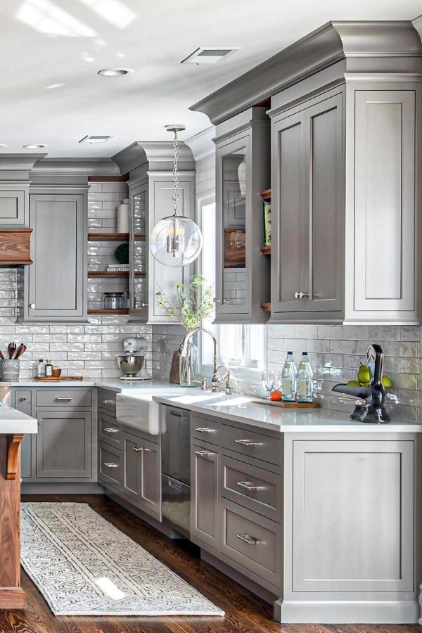 Lovely Grey Kitchen Cabinets Design Ideas For Cool Homes Page 34 Of 50 Evelyn S World My Dreams My Colors And My Life Affordable Farmhouse Kitchen Kitchen Design Color Farmhouse Kitchen Design