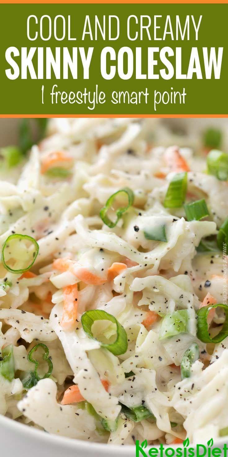 Creamy Skinny Coleslaw #KetoDiet #KetosisDiet #KetoDietPlan – Keto Diet