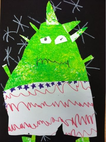 """we heart art...make with the book """"Aliens Love Underpants"""""""