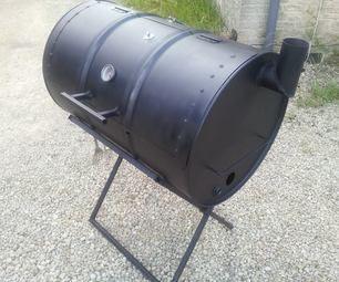 how to make an oil drum bbq smoker grill bauen lfass. Black Bedroom Furniture Sets. Home Design Ideas