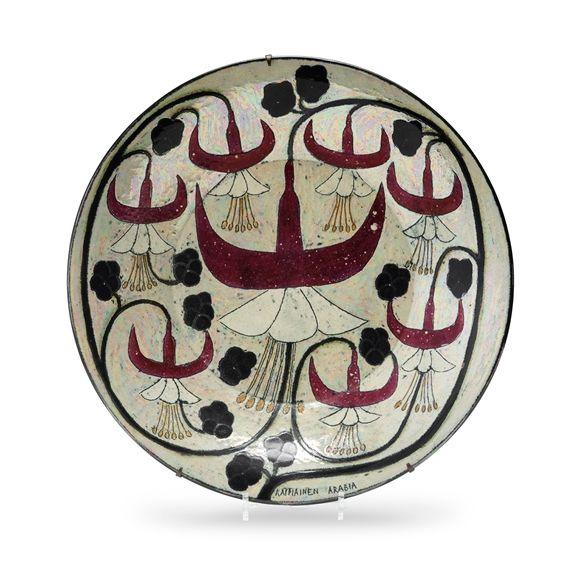 Birger Kaipiainen - A Glazed Stoneware Dish,...