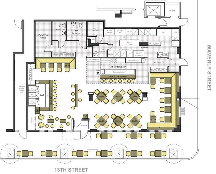 21 best cafe floor plan images on pinterest restaurant for Restaurant floor design