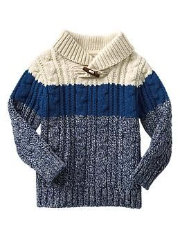 Colorblock shawl pullover | Gap