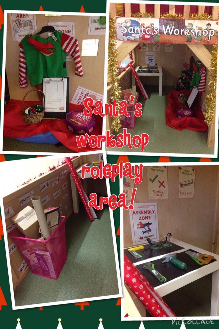 Santa's workshop roleplay area.