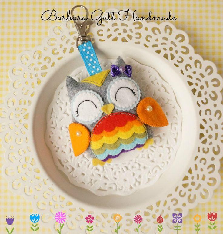 Felt Owl Barbara Handmade