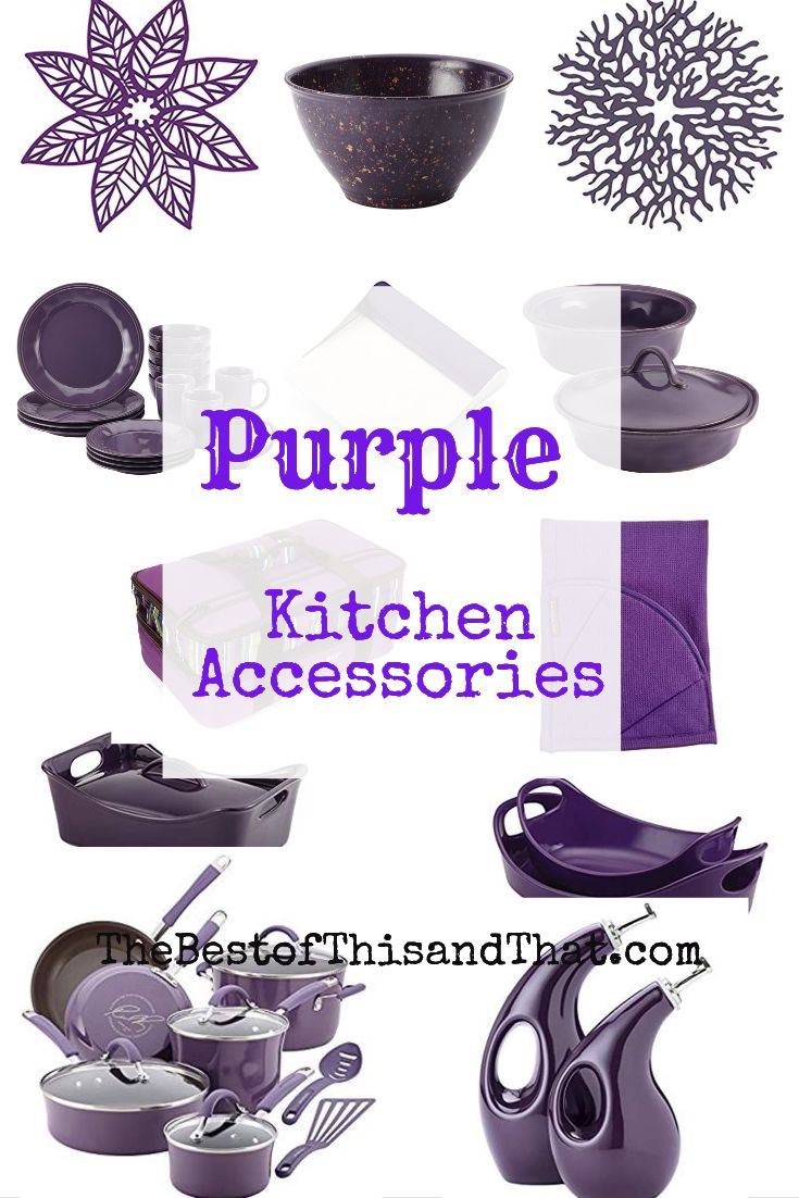 What color of purple kitchen decor accessories do you like ...