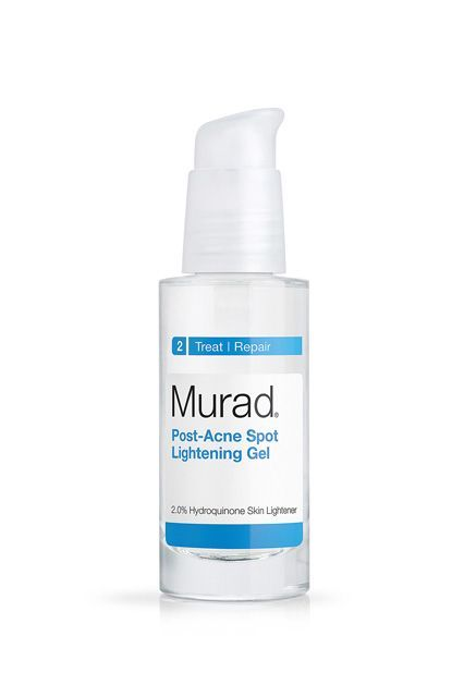 """Hydroquinone is effective at fading dark scars and other post-breakout marks. It's a common active ingredient in skin-lightening formulas, including this gel from derm-created line Murad. A few things to know: Apply it to just the affected area (or it could lighten the rest of your complexion, too) after washing your face and before applying your moisturizer. Also, most derms will warn you about """"rebound pigmentation"""" when using hydroquinone, which means that if you use it for too long…"""
