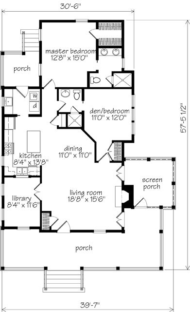 Banning Court House Plan by Moser Design Group for HousePlans.SouthernLiving.com