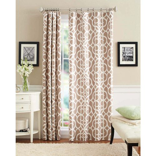 Walmart Better Homes And Gardens Marissa Curtain Panel Living Room