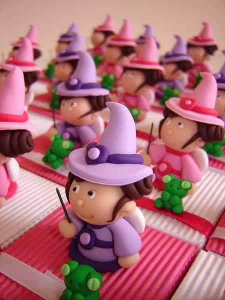 Boîtes à dragées petites fées rose et parme de Pâte et Tics sur DaWanda.com