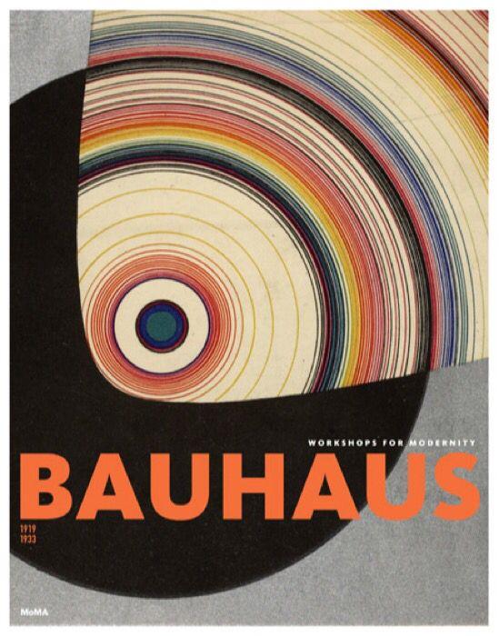 """graphisme : affiche d'exposition au MOMA, Bauhaus, cercle, cible, inspiré par Joost Schmidt, """"Offset Buch und Werbekunst"""", 1926"""