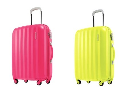 American Tourister's new 'Primo' luggage comes in amazing colours! These are Magenta and Neon Green. Instore now, and online soon - they're fabulous!