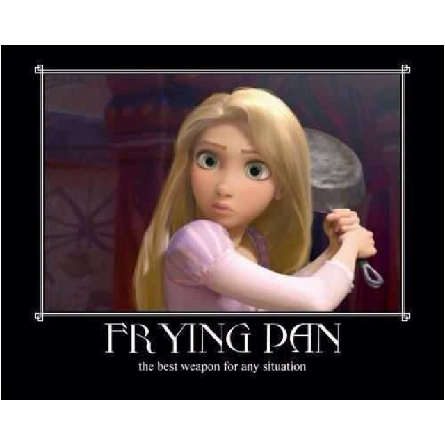 Frying pans, who knew right?!: Friends, Disney Princesses, Tangled, Fried Pan, Movies, So True, Funny Stuff, Dr. Who, True Stories