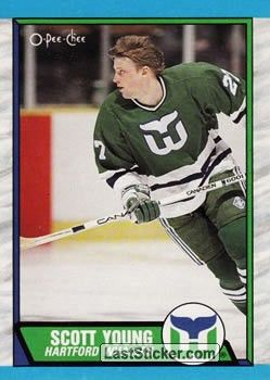 a7554edf7 SCOTT YOUNG 1989-90 HARTFORD WHALERS