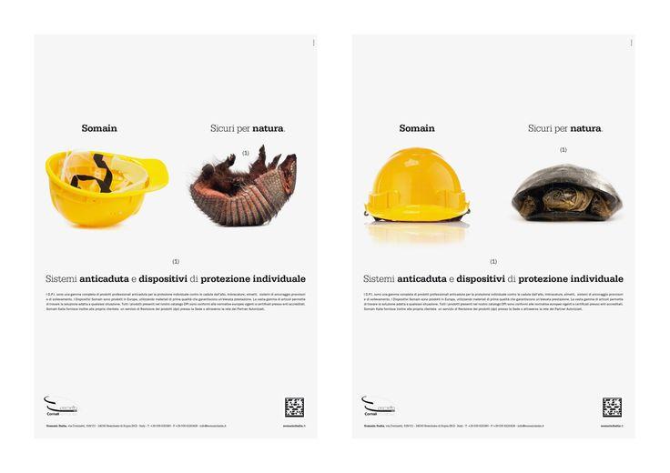CLIENTE Somain. ADV per il sistema anti-caduta Somain. Sicuri per natura. ART DIRECTOR: Cristiano Garonzi. #adv #pubblicità #comunicazione #grafica #design #sicurezza