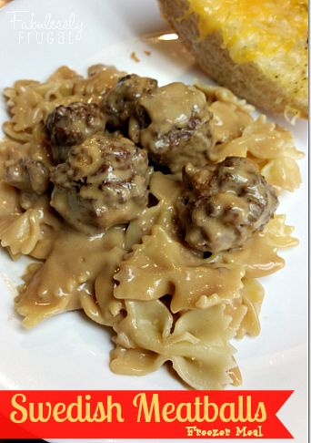 Nothing beats this super-creamy gravy and tender, tasty meatballs… this Swedish Meatball Freezer Meal recipe  is an easy weeknight special!