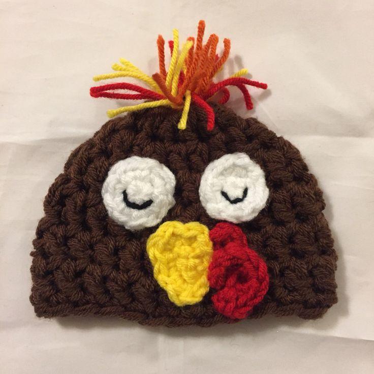 A personal favorite from my Etsy shop https://www.etsy.com/listing/474381802/newborn-turkey-hat-crochet-turkey-hat