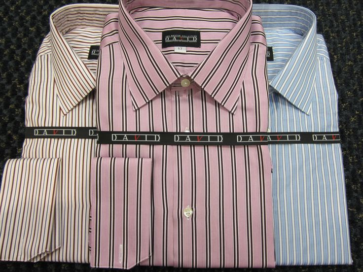 Men's dress shirts from Certified Master Designer David Eisele.  Part of  David's Master Collection, featuring the highest quality fabrics, high quality break resistant buttons, hand constructino, and 20 stiches per inch.  Enjoy the longevity this dress shirts afford! www.davelleclothiers.com