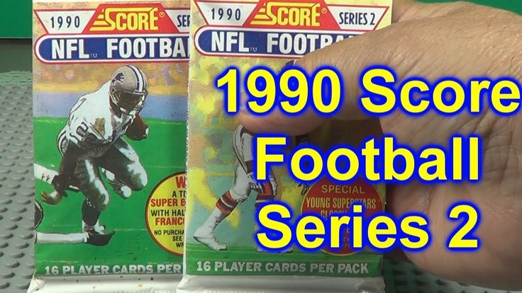 1990 score football series 2 opening 2 packs with images
