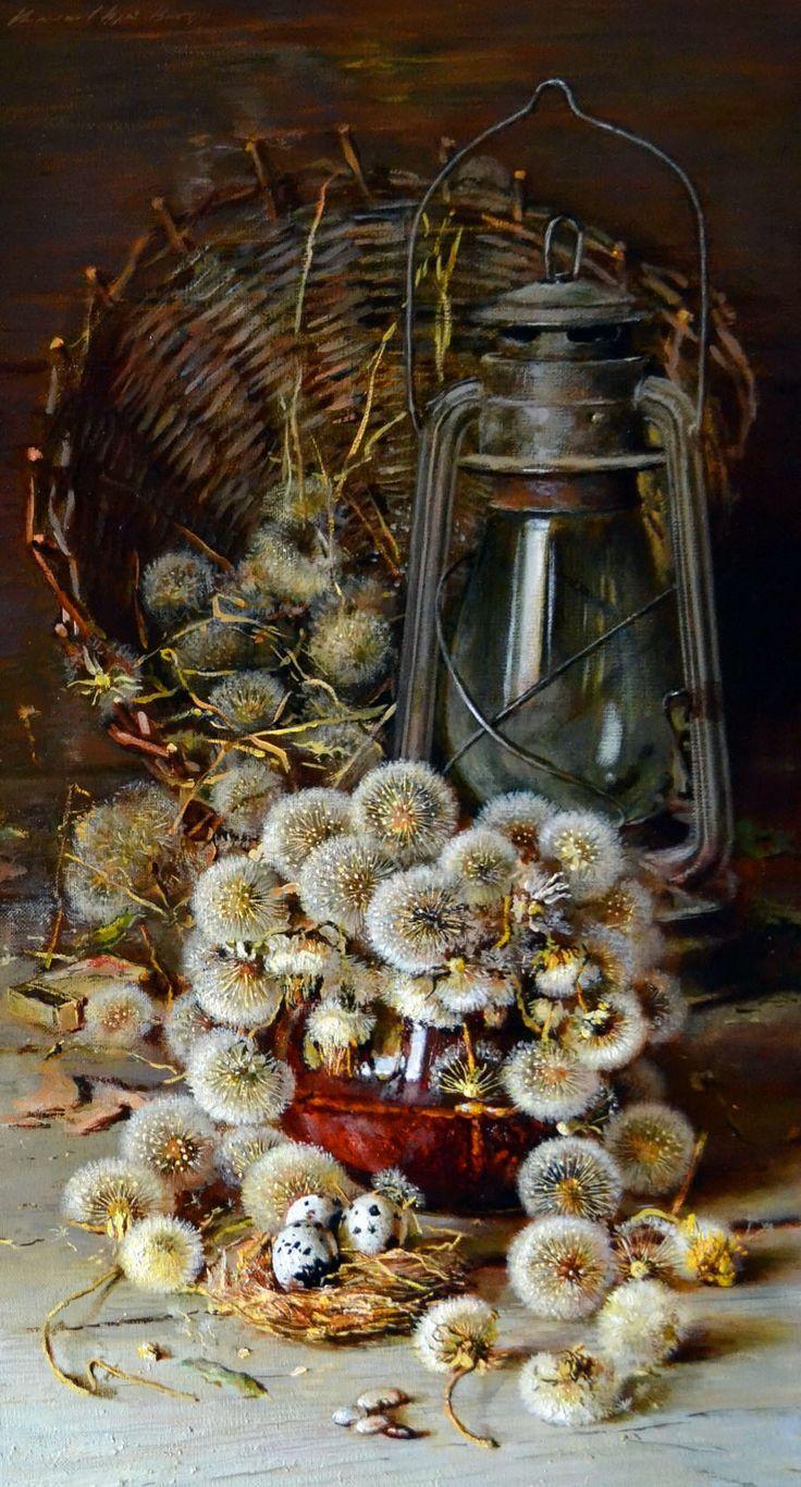 Натюрморт рябина в вазе картинки