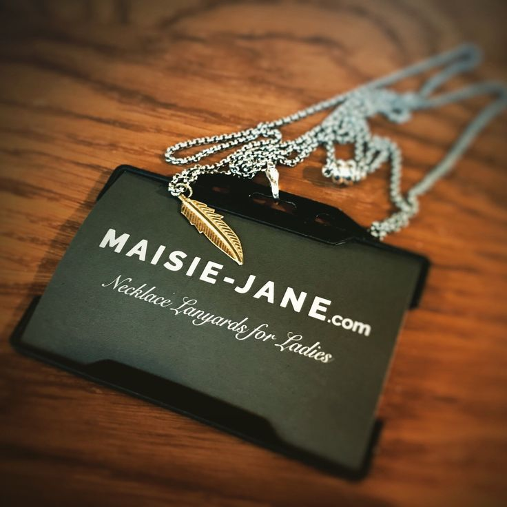 When you can't decide between silver and gold! What's your work pass on today? A Maisie-Jane necklace Lanyard is the perfect alternative to the standard issue it's time to join the revolution for change!