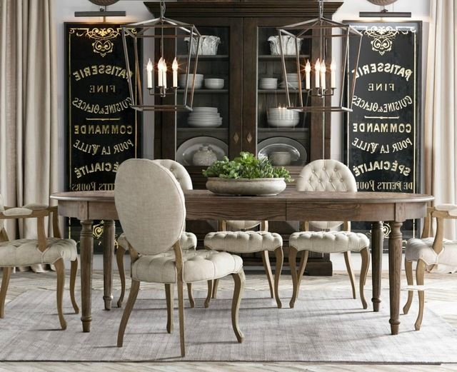 Wholesale 5004 American Style Solid Wood Chair Classic Style Fabric Chair Dining Room Fu Dining Room French Restoration Hardware Dining Room Dining Room Design