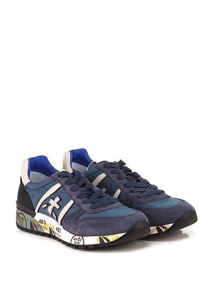 PREMIATA - Sneakers - Uomo - Sneaker in tessuto tecnico e camoscio con suola in gomma. Tacco 40, platform 20 con battuta 20.  - 1457 PETROLIO\BLU - € 195.00