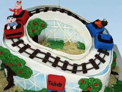 """""""Rockin' Roller Coaster"""" Cake by Susan Carberry - YouTube"""