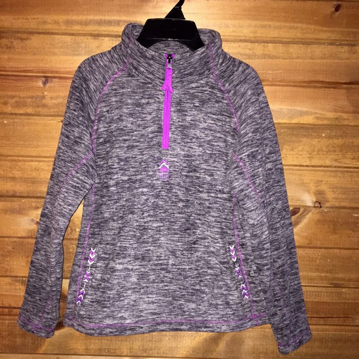 Cruel Girl Grey Pink Girl's 1/4 Zip Up Fleece Pullover MWK3820001