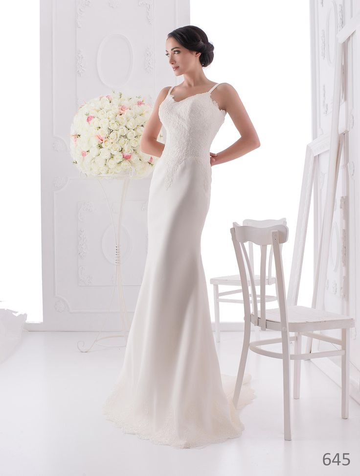 Simple and elegant wedding dress from ElodyWedding.com