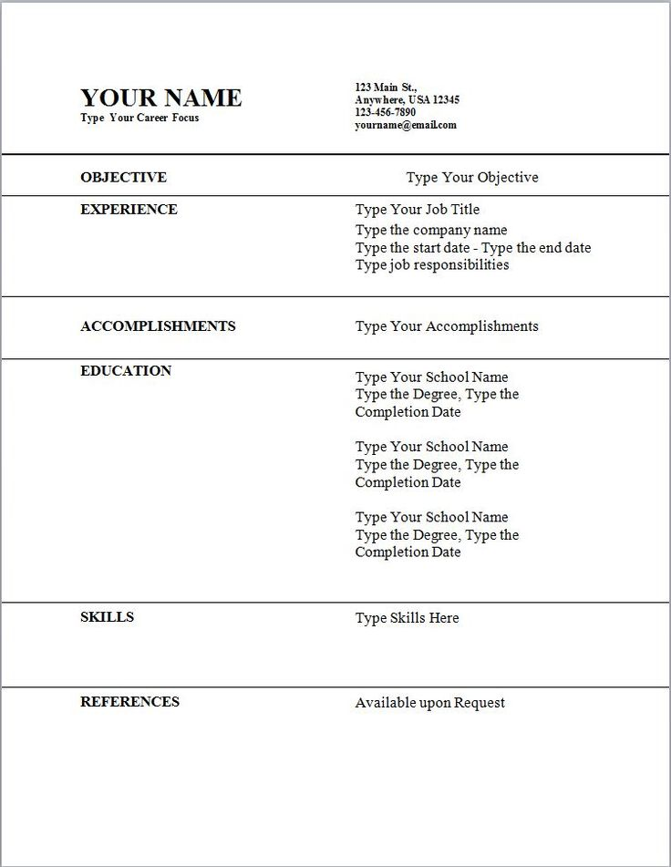 best 25 resume template ideas on