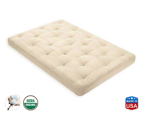 Cot Size Futon Mattress For Bunks Or Bus All Cotton 6 Inch By Gold Bond 606 100 Of Our Exclusive Joy Batting