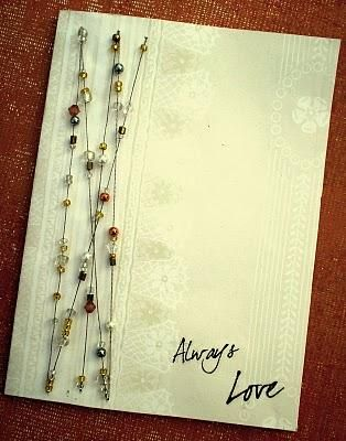 Beads on strings on the card, awesome!