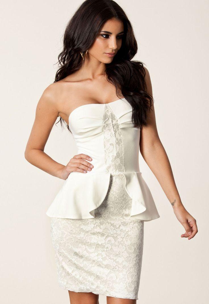 Angela Bandeau Peplum Dress