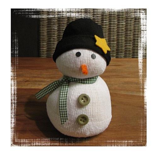 Bonhomme de neige.... en chaussette - le scrap et co de chris