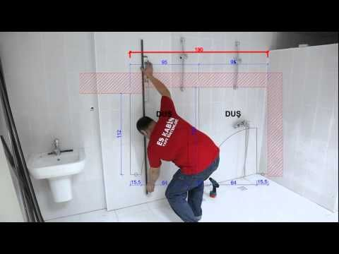 ▶ ES KABIN,Installation of compact laminate toilet partition - Compact laminat tuvalet kabini montajı - YouTube