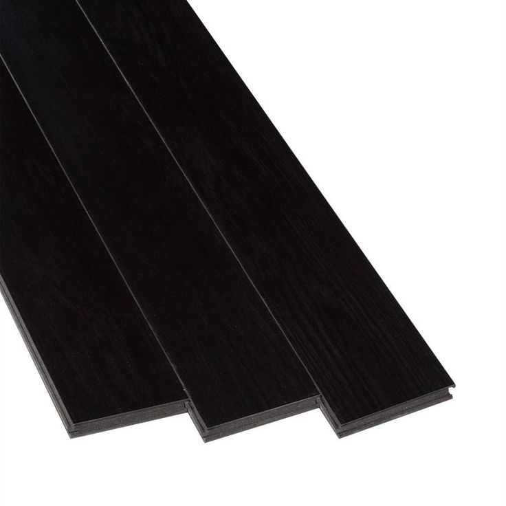 AquaGuard Ebony High Gloss Water-Resistant Laminate - 12mm   Floor and Decor