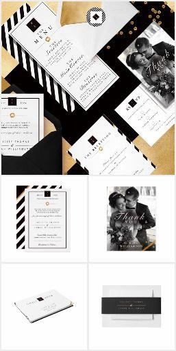 Black, White & Gold Wedding Collection #blackWhiteWedding #BlackGoldWedding #BlackWedding #ElegantWedding #GoldWedding #Zazzle